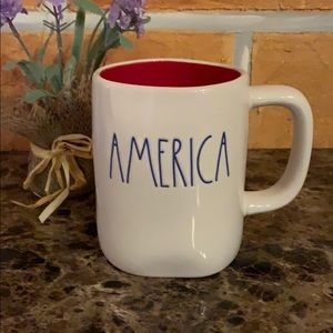 Rae Dunn AMERICA Red White And Blue Mug